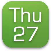 Date - status bar Icon