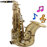 Real Saxophone Icon