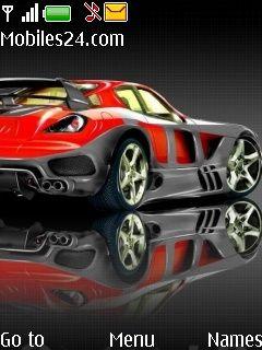 Sports Car Free Nokia 6300 Theme Download
