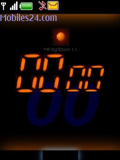 Digital Clock (Flash) Free Nokia 6300 Theme download - Download Free