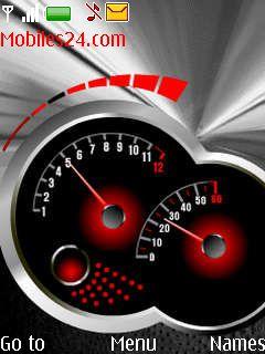 Speedometer Dark Clock Free Nokia 7900 Prism Theme download