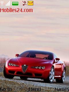 Red Car Free Nokia 6300 Theme Download