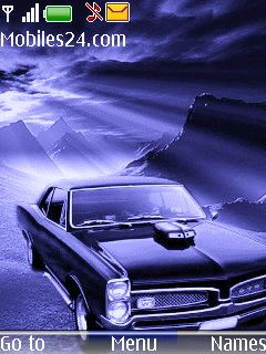 Purple Car Free Nokia 6300 Theme Download