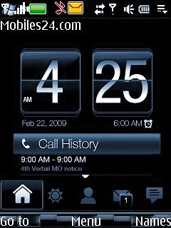 Blue Digital Clock Free Nokia 6233 Theme download - Download