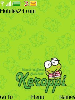 Keroppi Free Nokia 6300 Theme download - Download Free Keroppi Nokia