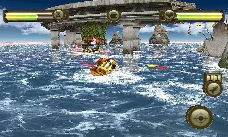 Battle Boats 3D (128x160) S40v3 Free Mobile Game download - Download
