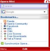 Opera mini for nokia n72.