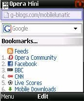 Opera Mini 4.2 Handler UI 1.3.2 Black Edition