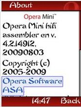 Opera Mini 4.2 (Modded Globe)