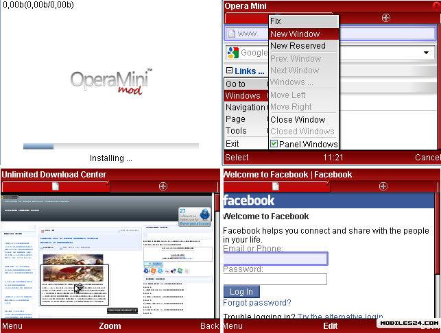 Opera Mini 4 2 Mod Test 12 Free Nokia 6020 Java App download