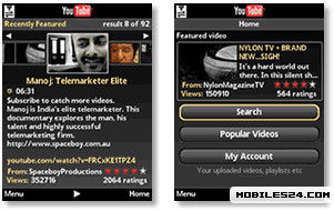 youtube software for java phones