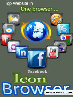 Icon Browser (128x160) Free Samsung Blue Earth Java App