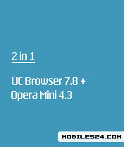 UC Browser 7.8 + Opera Mini 4.3