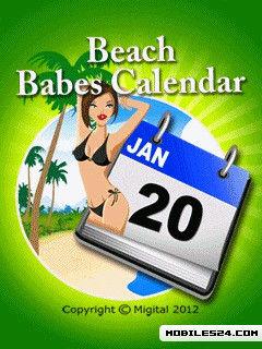 Beach Babes Calendar Free (360x640) Free Nokia 6800 Java App