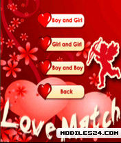 Love Match Free Nokia N73 Java App download - Download Free Love