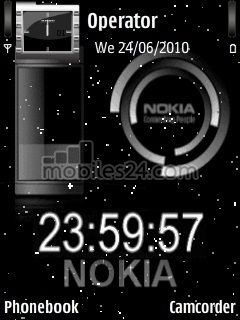 Digital Clock Free Nokia 6120 Classic Theme download - Download Free