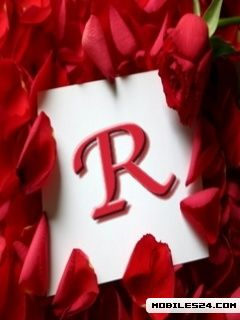 Letter R Free 240x320 Wallpaper Download