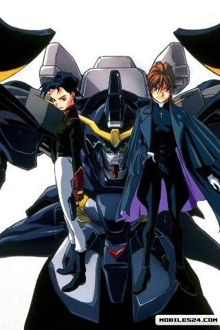 Gundam Wing Deathscythe Free 320x480 Wallpaper Download