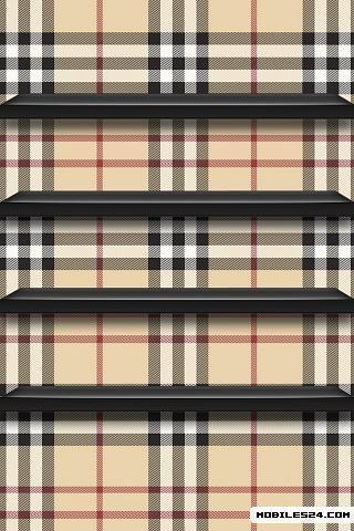 Burberry Shelves Free 320x480 Wallpaper Download