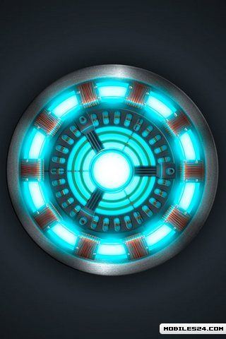 iron man arc reactor free 320x480 wallpaper download