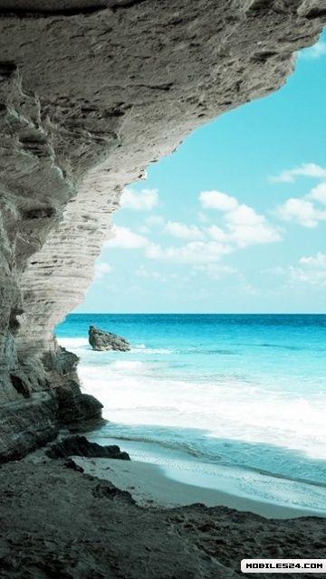 Beach Cove Nokia 500 Wallpaper