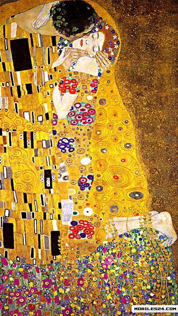 Klimt The Kiss Wallpaper Gustav Klimt - The Kiss