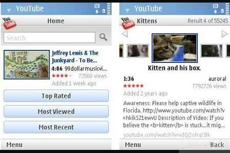 برنامج YouTube 1.04 لمشاهدة فيديوها اليوتيوب الجوال