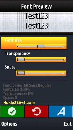 برنامج Font Zoomer 1.11 لتكبير الجوال