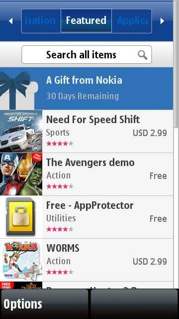 S60v5 phone's nokia store client updated to version 1. 22(14.