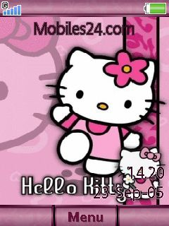 Animated Hello Kitty Sony Ericsson W595 Theme to your mobile phone