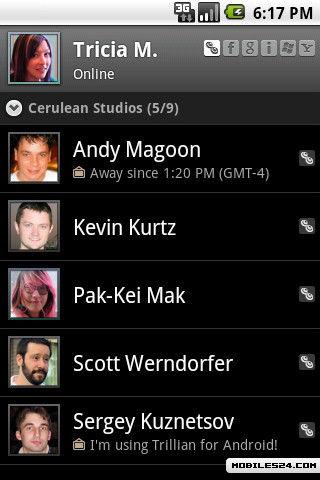 Trillian Free Sony Ericsson Xperia X10 App download ...