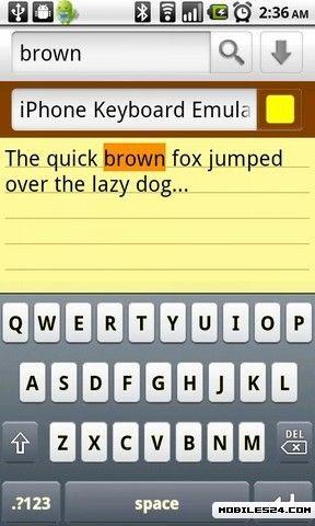 iPhone Keyboard Emulator Free Samsung Galaxy Y Duos App