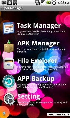 Super Manager Free HTC Magic App download - Download the