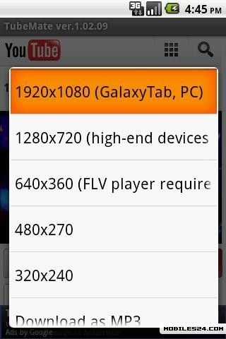 TubeMate - YouTube Downloader Free Samsung Galaxy S2 App