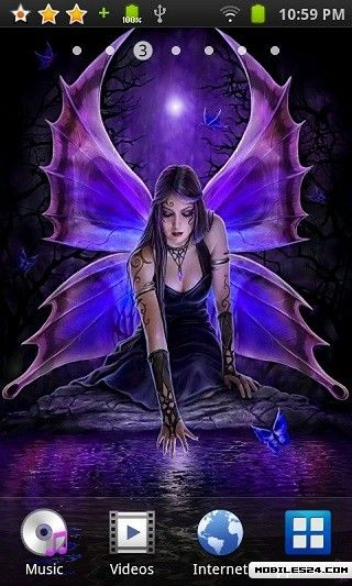 Gothic fairy reflections live wallpaper free android app download download the free gothic - Fairy wallpaper for android ...
