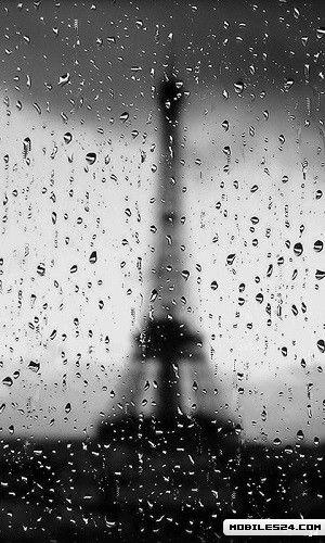 Eiffel Tower Rain Live Wallpaper