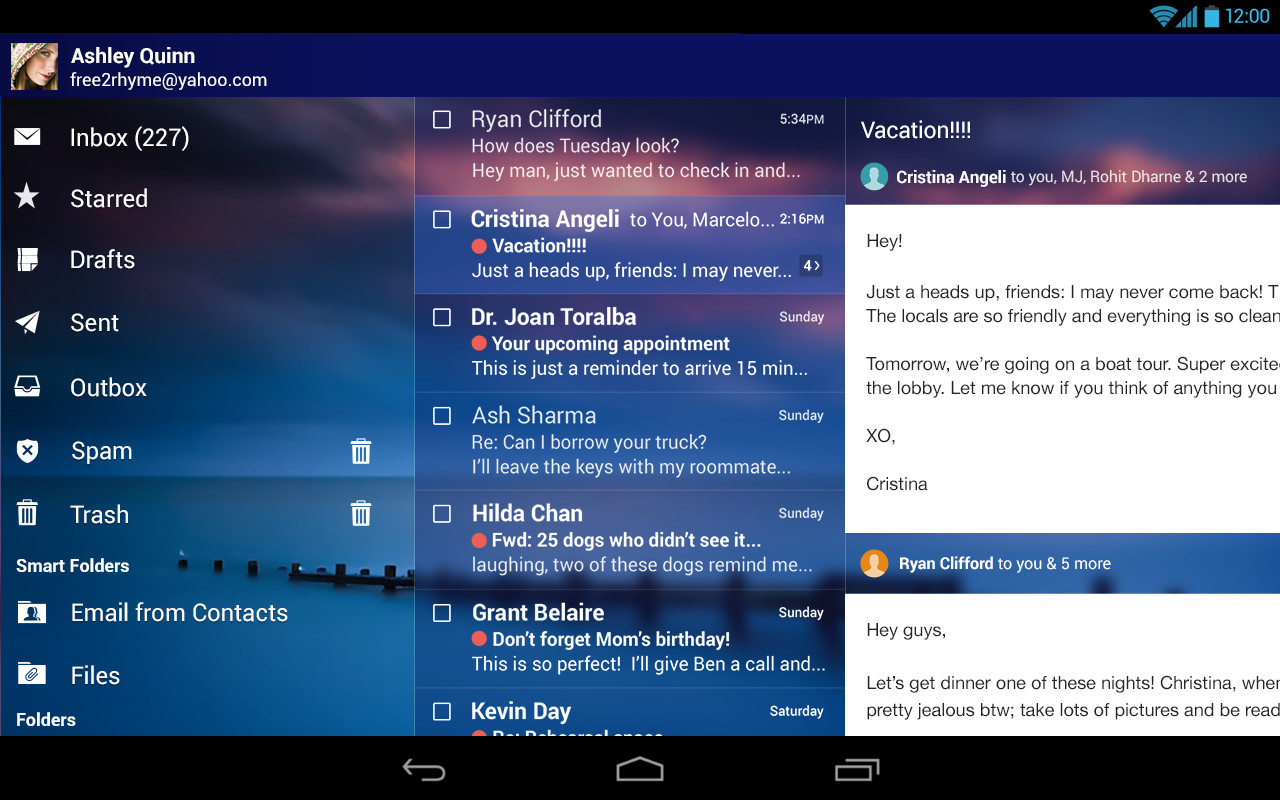 Yahoo Mail – Free Email App Free Sony Ericsson Xperia X8 App