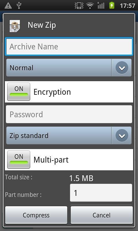 Easy Unrar, Unzip & Zip Free Samsung Galaxy Pocket App download