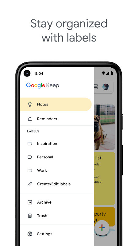 Google Keep - Notes and Lists Free Samsung Galaxy Y App download