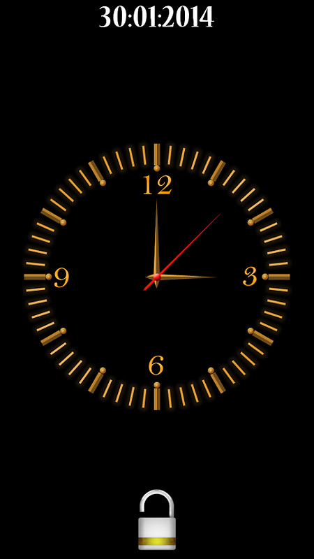 Analog Clock Screen Lock Free Android App download - Download the