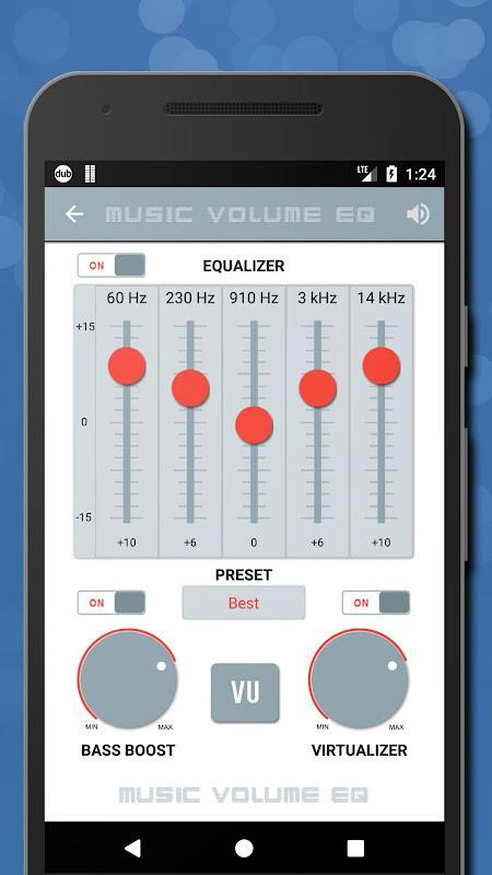 Music Volume EQ - Sound Bass Booster & Equalizer Free
