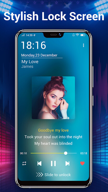 how to change default audio player android