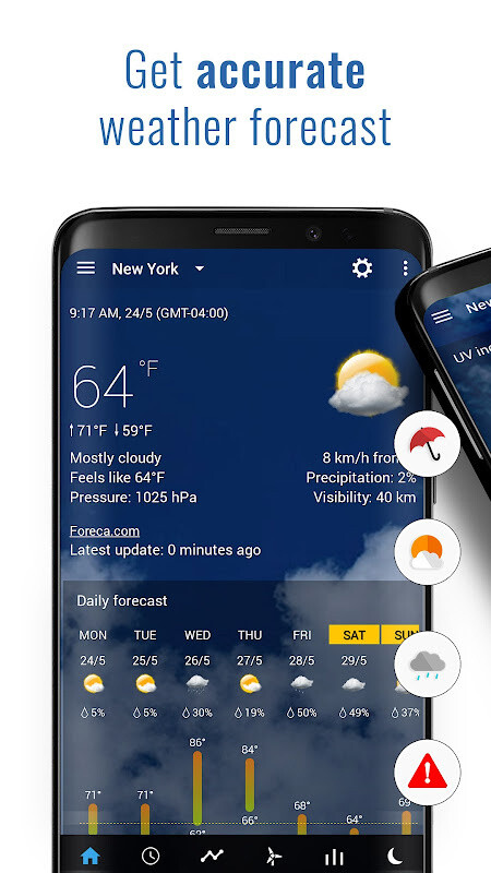 Transparent clock & weather Free Samsung Galaxy Y Duos App