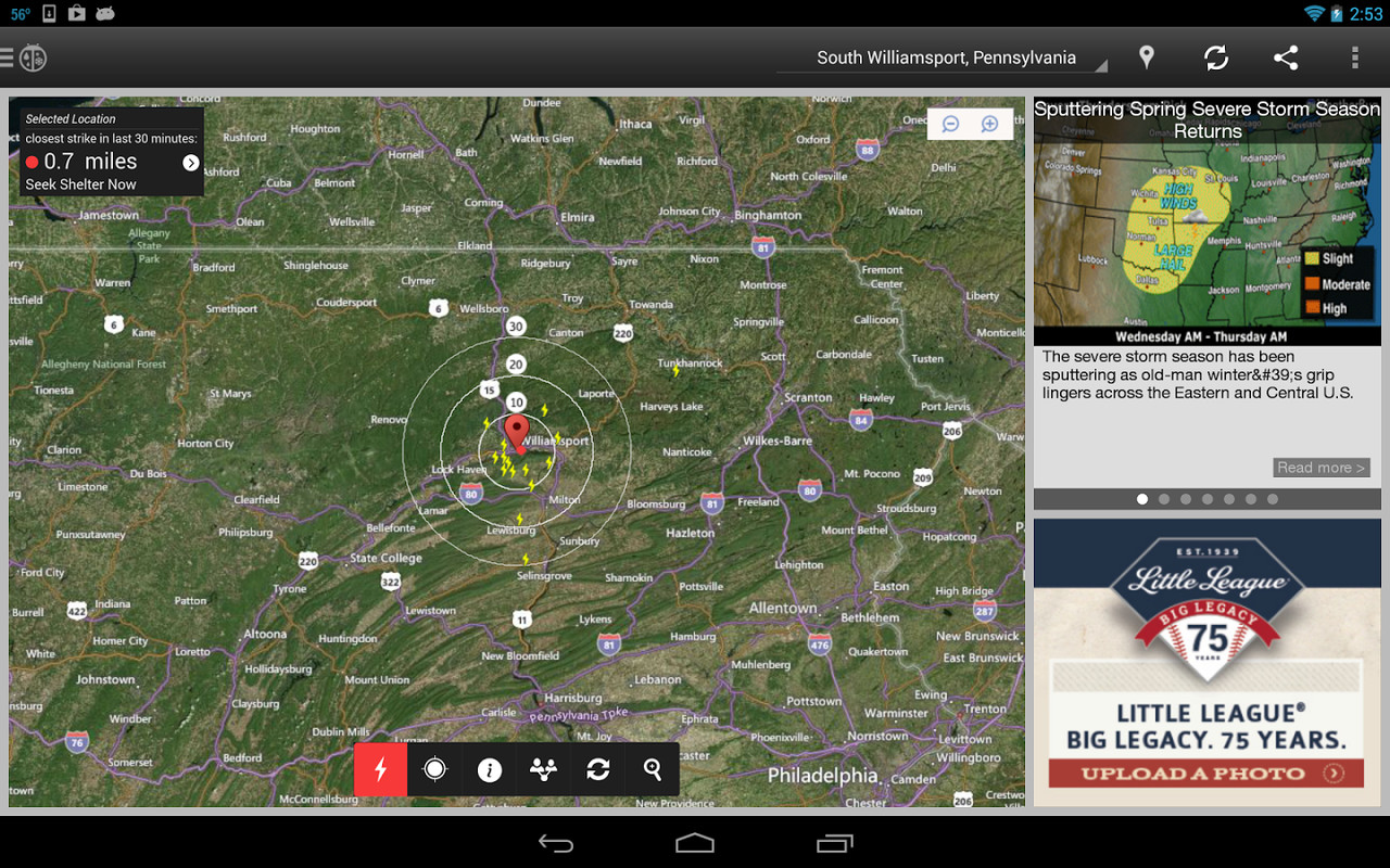 Little League WeatherBug Free Android App download
