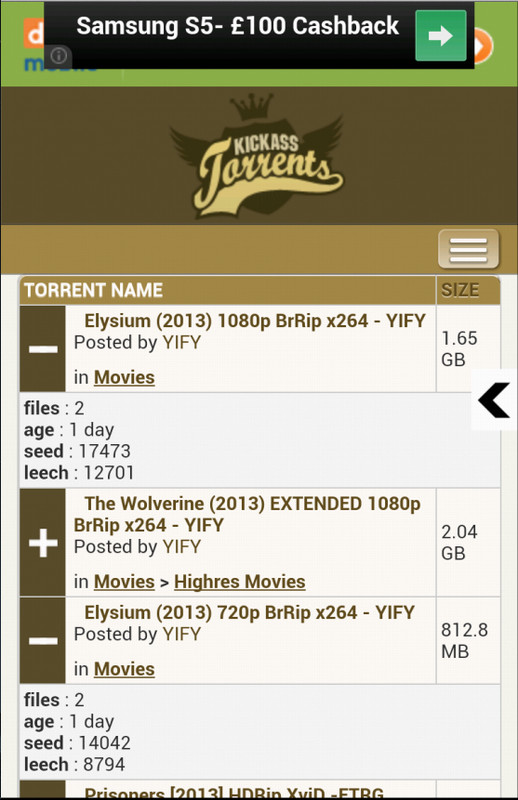 Kickass Torrents - Mobile & UK Free Android App download