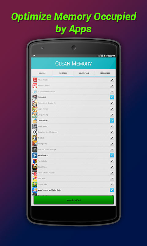 Clean Memory: RAM Booster Free Android App download ...
