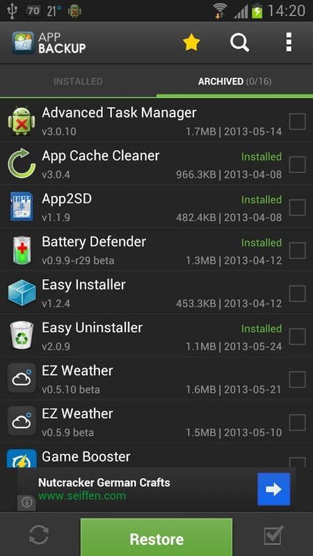 App Backup & Restore Free Android App download - Download the Free