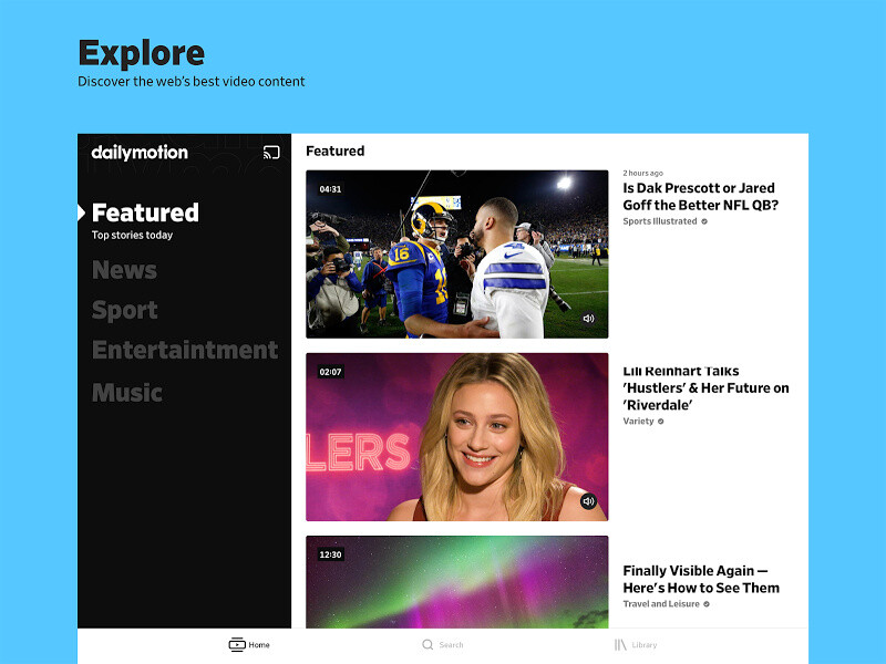 Dailymotion Free HTC Explorer App download - Download the Free