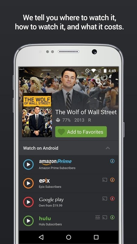 Yidio: TV Show & Movie Guide Free Samsung Galaxy S Hoppin