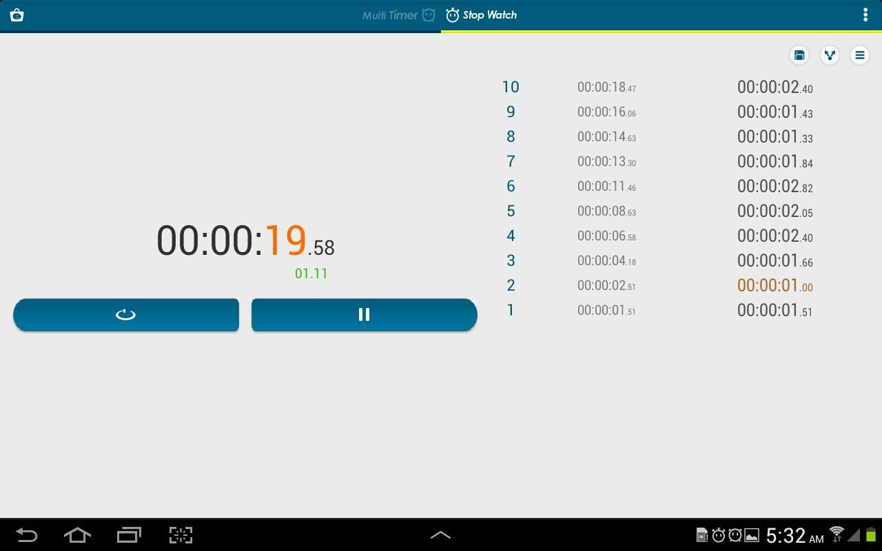Multi Timer StopWatch Free Android App download - Download
